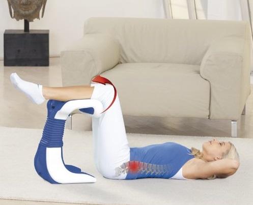 Rückentrainer für das Rückentraining im Liegen