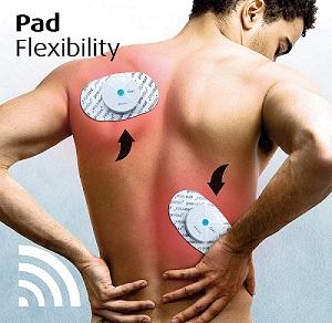 Mit dem Reizstromgerät kann man auch die Rückenmuskulatur trainieren