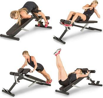 Fitnessübungen auf dem Bauch- und Rücken-Multi-Trainer von Fitness Reality