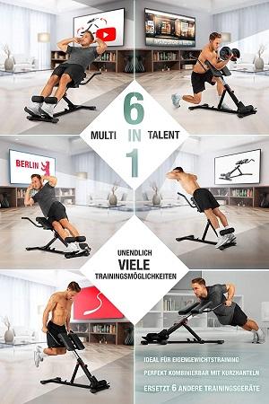 Übungen auf dem Sportstech 6in1 Rückentrainer