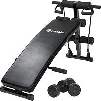 Bauchmuskelbank für Sit-Ups und mehr Fitnessübungen von TecTake